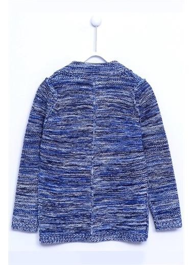 Silversun Kids Hırka Ceket Yaka Önden Düğme Kapalı Uzun Kollu Triko Hırka Erkek Çocuk T 310239 Mavi